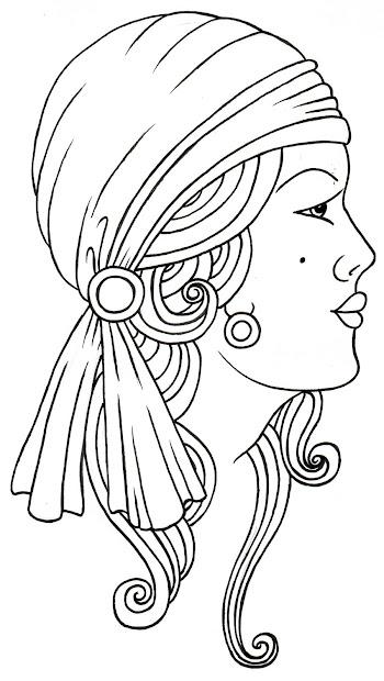 gypsy lady tattoo design fashion