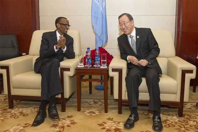 The United  Nations' Secretary General meets the world dictator and war criminal