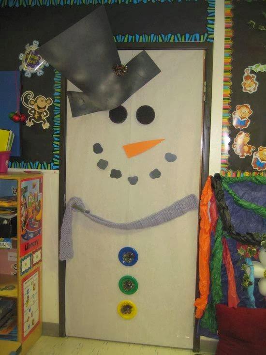 El arte de educar ideas para decorar la puerta del aula for Decoracion en puertas de navidad