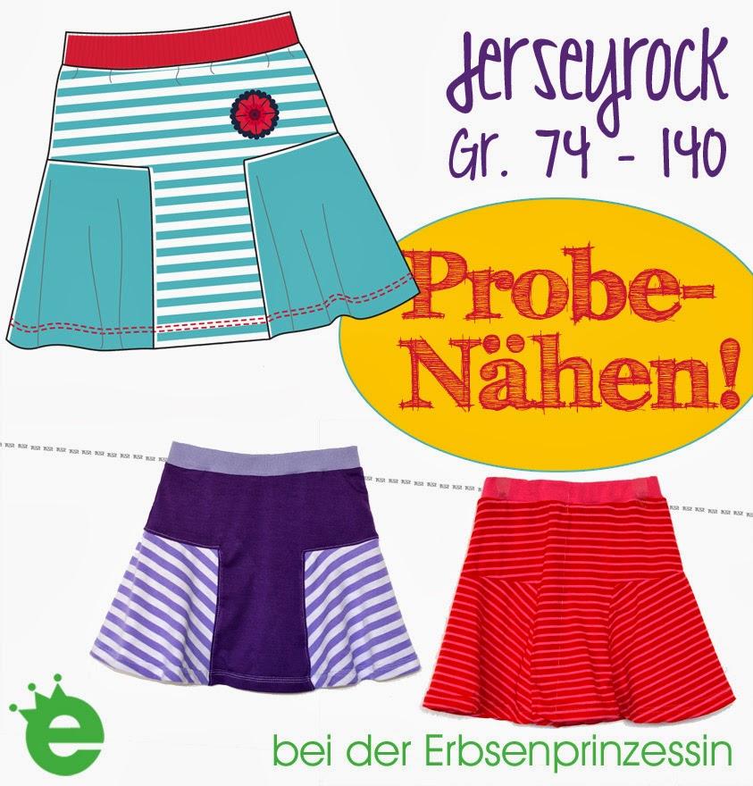 Probenähen: Jerseyrock für Kinder und Erwachsene - Erbsenprinzessin Blog