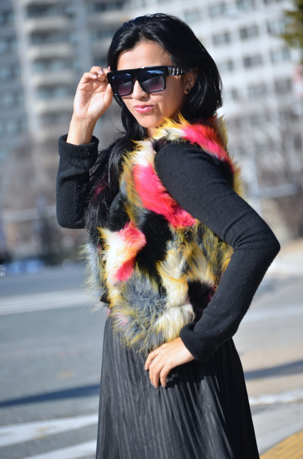 Faux Fur Short Waistcoat