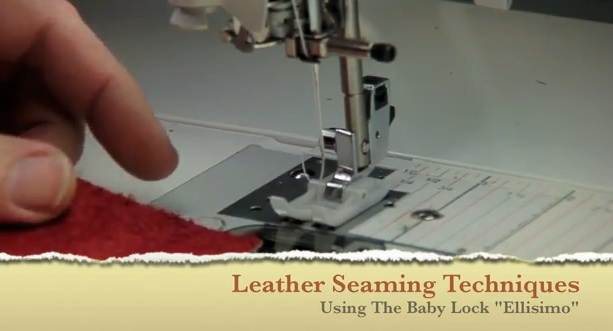 Leather Seaming And Vinyl Sewing Demo On My Baby Lock Ellisimo Enchanting Ellisimo Sewing Machine