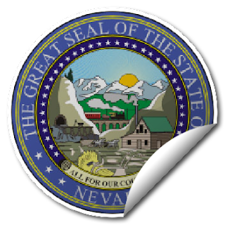 Sticker of Nevada Seal