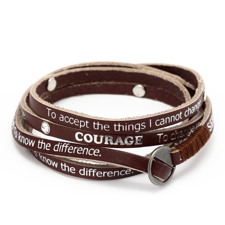 Serenity Prayer Bracelet Leather1