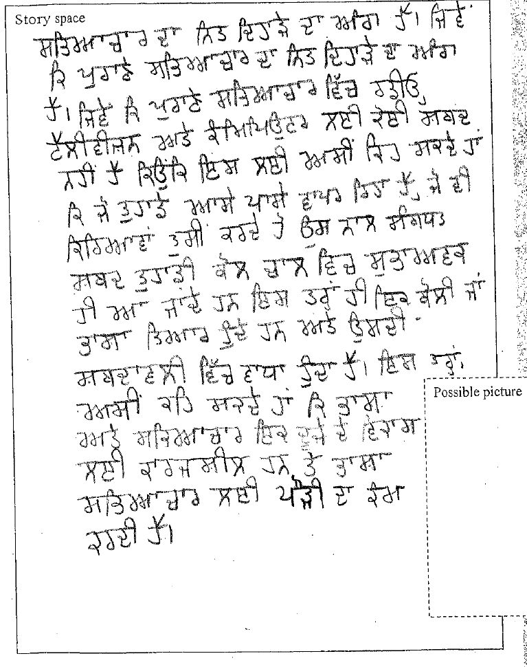Punjabi Written Language