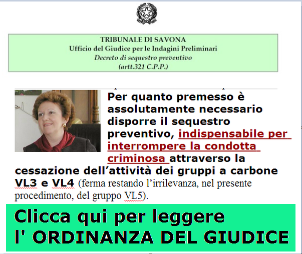 "SU  ""IL SECOLO XIX "" L'ORDINANZA del GIP FIORENZA GIORGI."