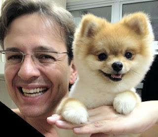 Celso Zucatelli com seu Cão