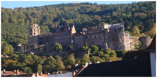 Castelo de Heidelberg visto da Alte Brücke