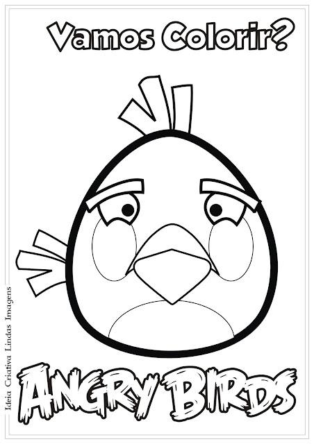 Desenho Angry Birds Matilda para colorir