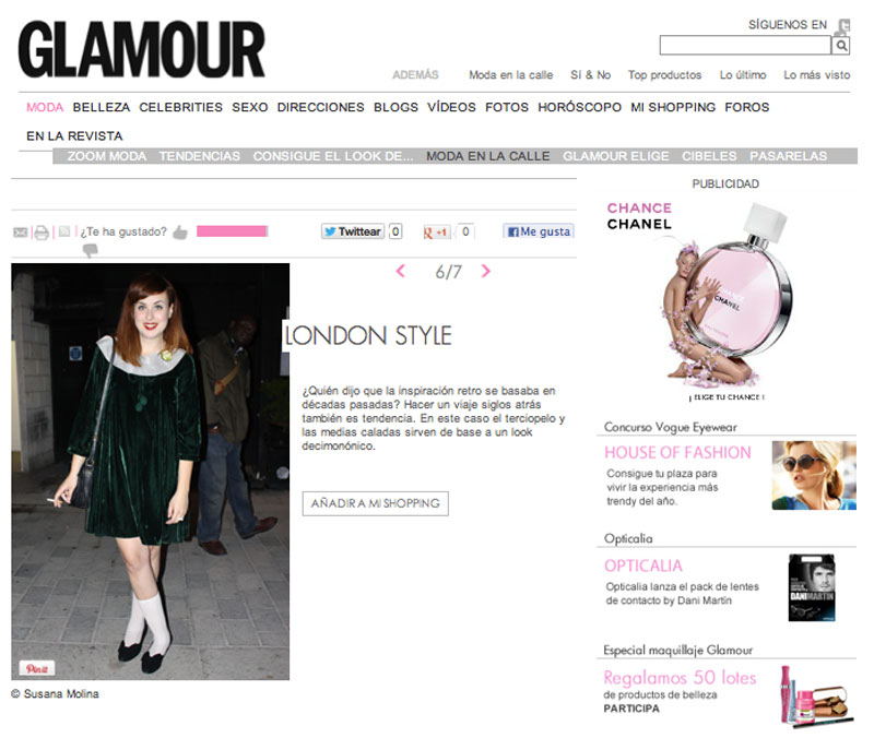 Glamour (Spain) - London Style