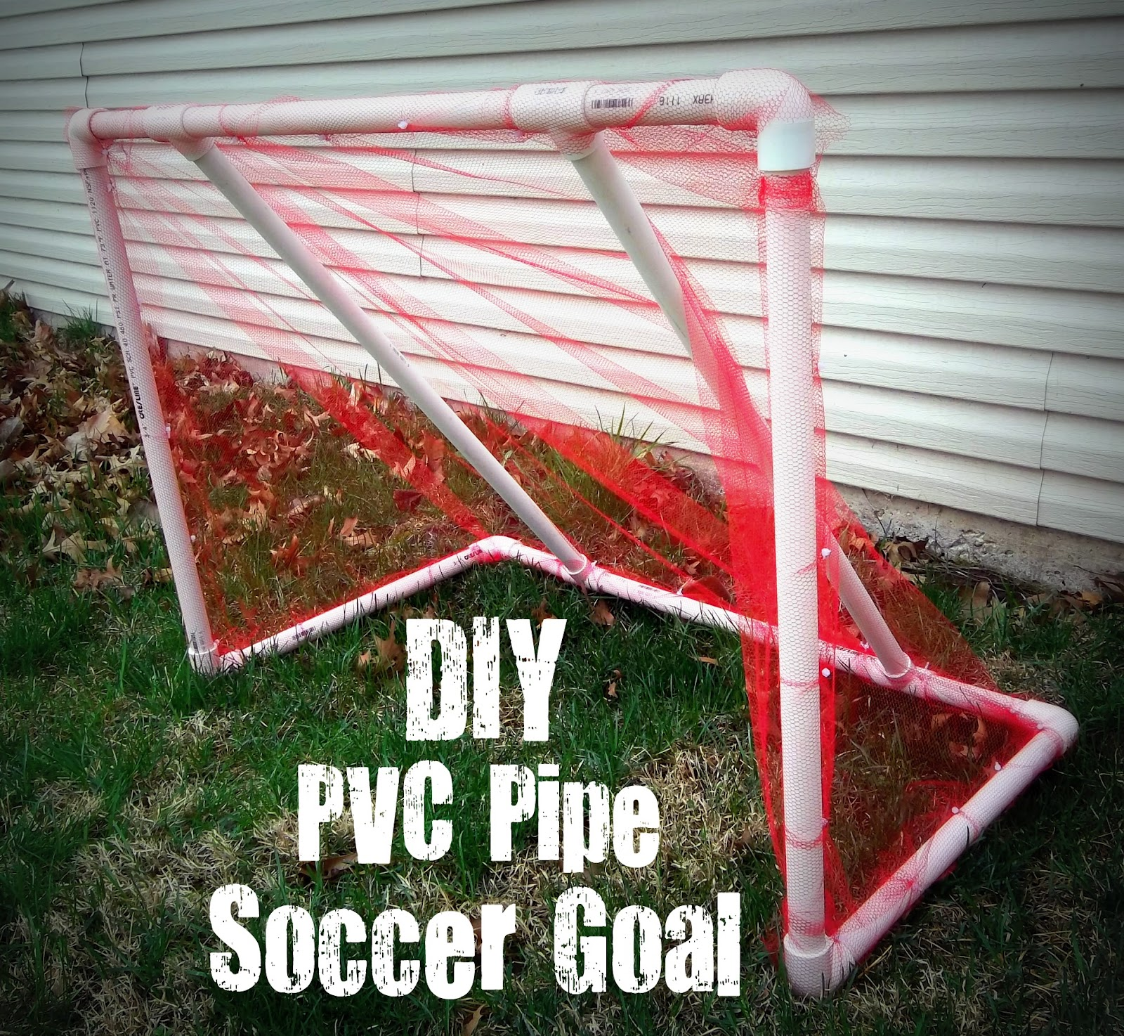 cheap and easy diy pvc pipe soccer goal six sisters 39 stuff