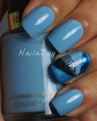 NailaDay: Revlon Dreamer with Triangle Patchwork Accent