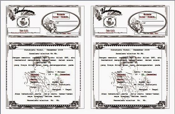 Free Download Kumpulan Contoh Blangko Format Template Undangan ...