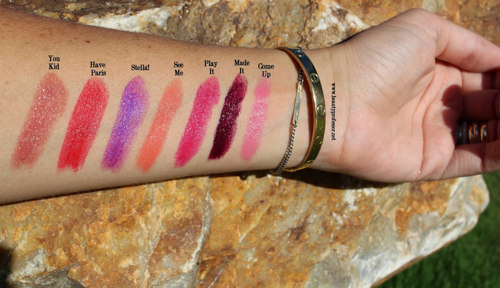 lipstick queen silver screen swatches