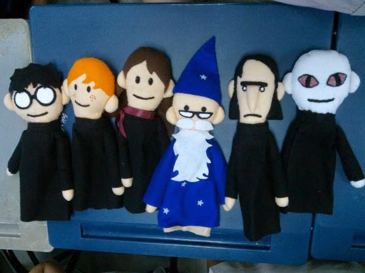 The Crafty Porpupine: DIY Project: Harry Potter Puppet Pals