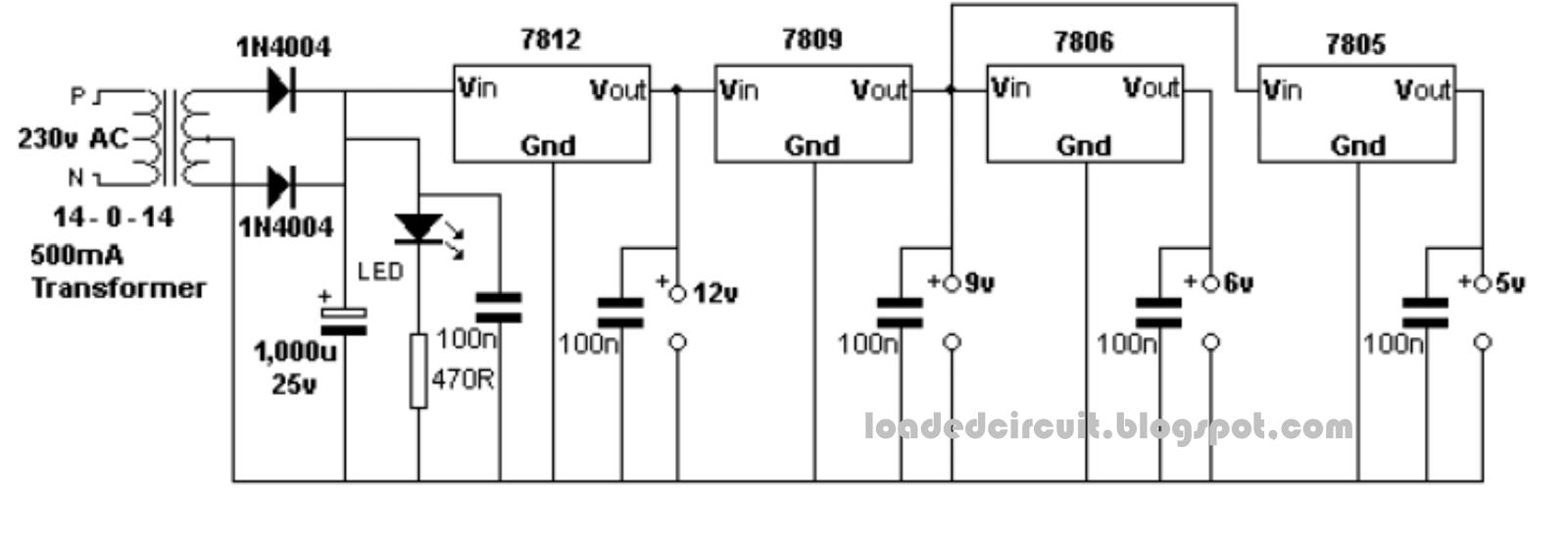 Loadedcircuitcom Um3561 Siren Generator Design Bench Power Supply