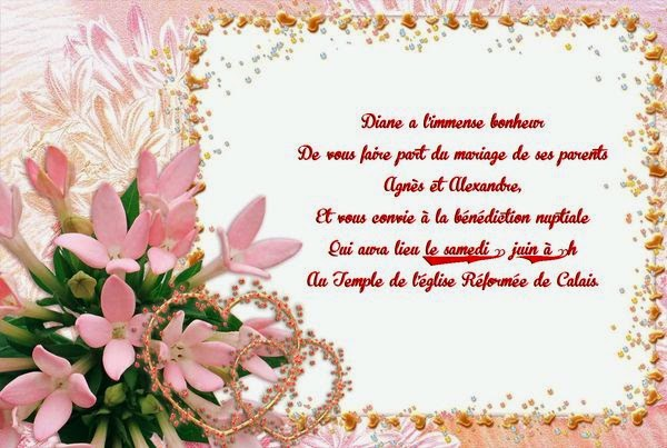Une belle carte invitation mariage