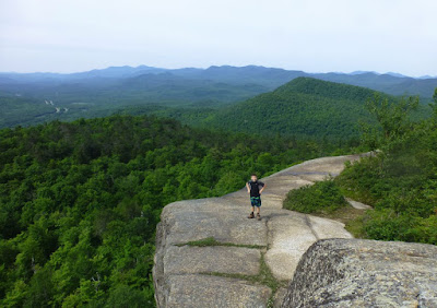 Taking in the view from Pok-o-Moonshine's summit, Saturday morning, 06/27/2015.  The Saratoga Skier and Hiker, first-hand accounts of adventures in the Adirondacks and beyond, and Gore Mountain ski blog.