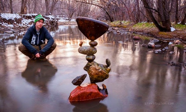 rock balancing by Michael Grab