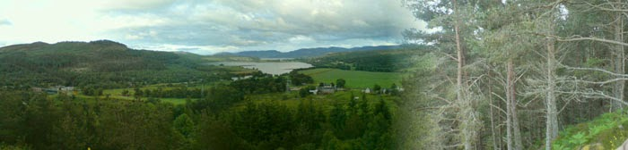 Panoramic view of Culrain, Scottish Highlands