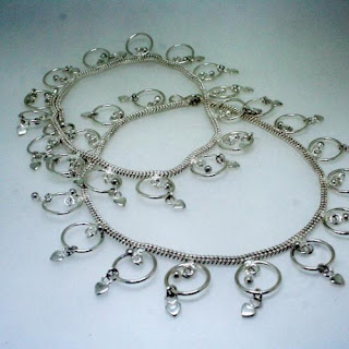 Beautifully Designed Silver Anklets