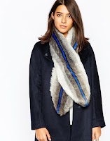 http://www.asos.com/reiss/reiss-faux-fur-vertical-stripe-scarf/prod/pgeproduct.aspx?iid=5519877&clr=Blue&SearchQuery=fur+scarf&pgesize=17&pge=0&totalstyles=17&gridsize=3&gridrow=4&gridcolumn=2