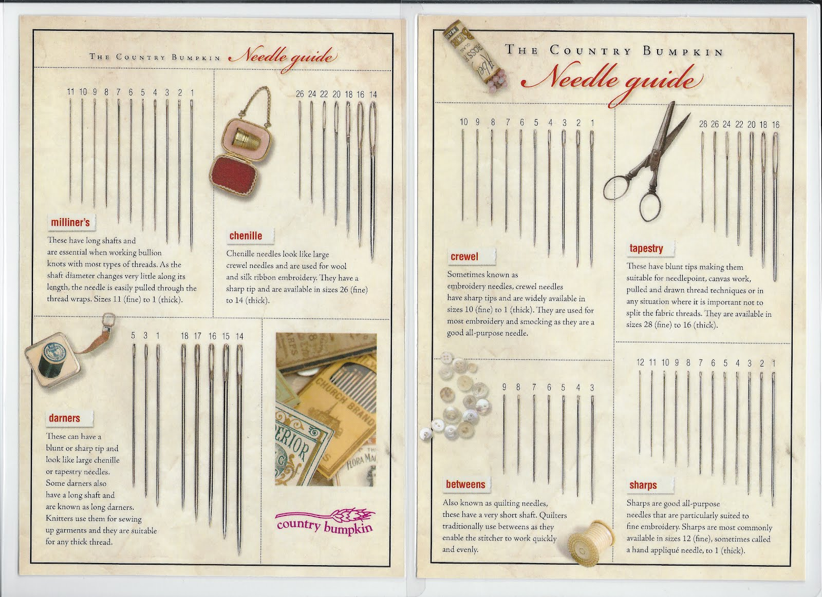 The wooly thread country bumpkin s needle guide