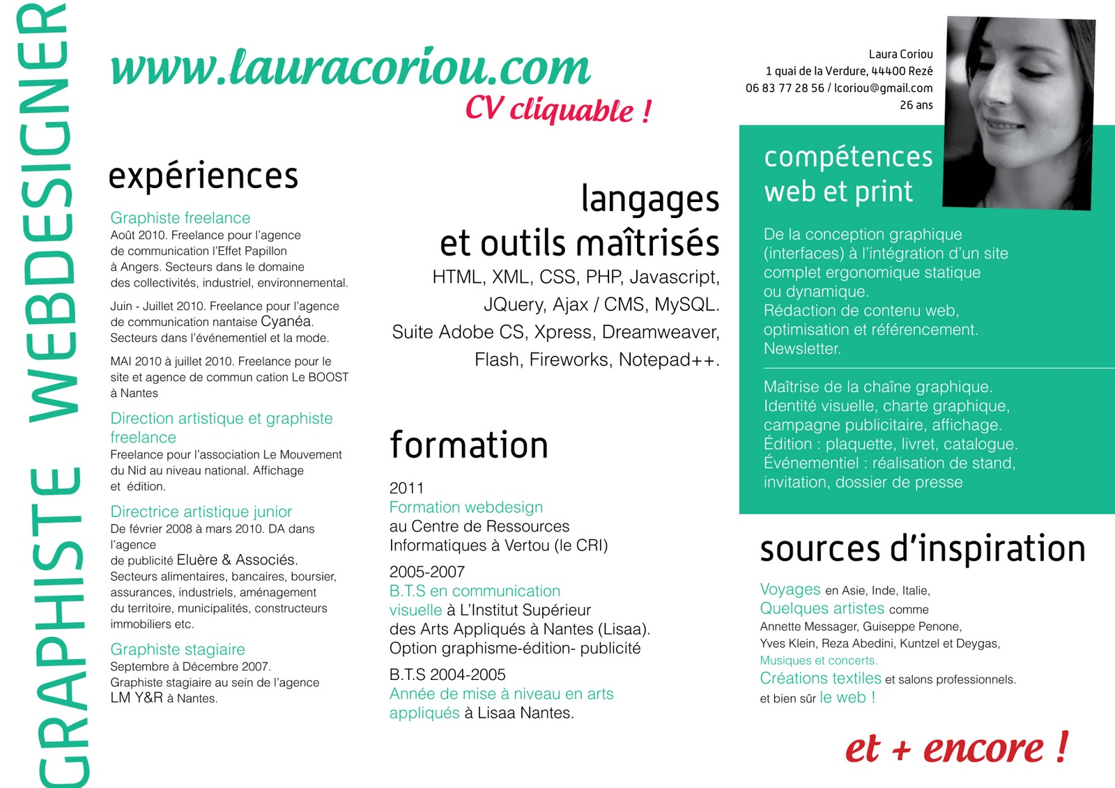 laurabook  nouvelles comp u00e9tences en webdesign   nouveau cv