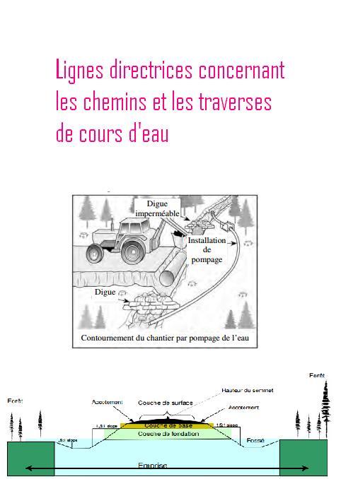 Lignes directrices concernant les chemins et les traverses for Cours construction batiment pdf
