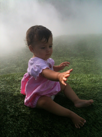 Mimi catching a cloud