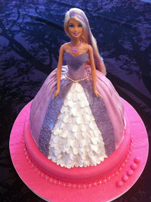cute barbie doll cake for children's birthday