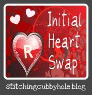 Initial heart swap logo