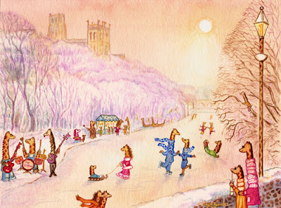 Durham Giraffes on Ice, UK Giraffe Artist Ingrid Sylvestre