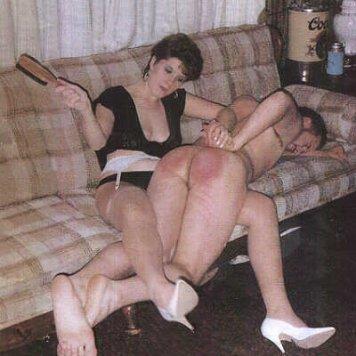 two women spank man femdom - hot nude photos