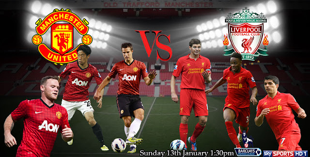 Keputusan Manchester United vs Liverpool 13 Januari 2013
