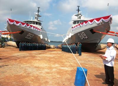 PT. Palindo Marine Shipyard Launching KRI Pari 849 dan KRI Sembilang 850