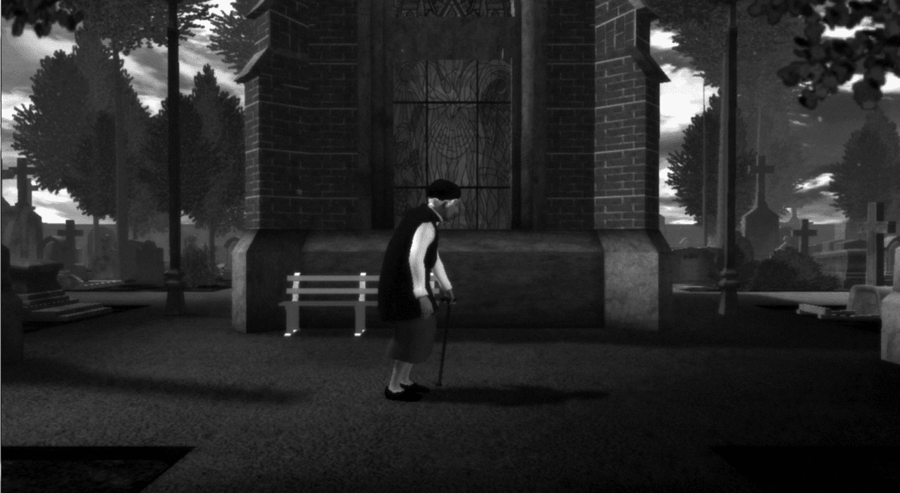 The Graveyard Indie Pc Game Old Woman With Cane In Graveyard