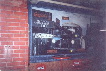 Cotton Club mural y ladrillos imitacion