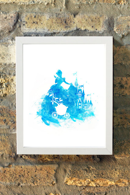 Disney Cinderella watercolor