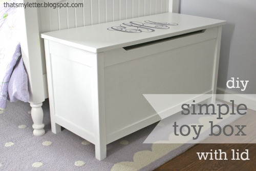 ... to build this perfectly simple yet functional toy box with a lid