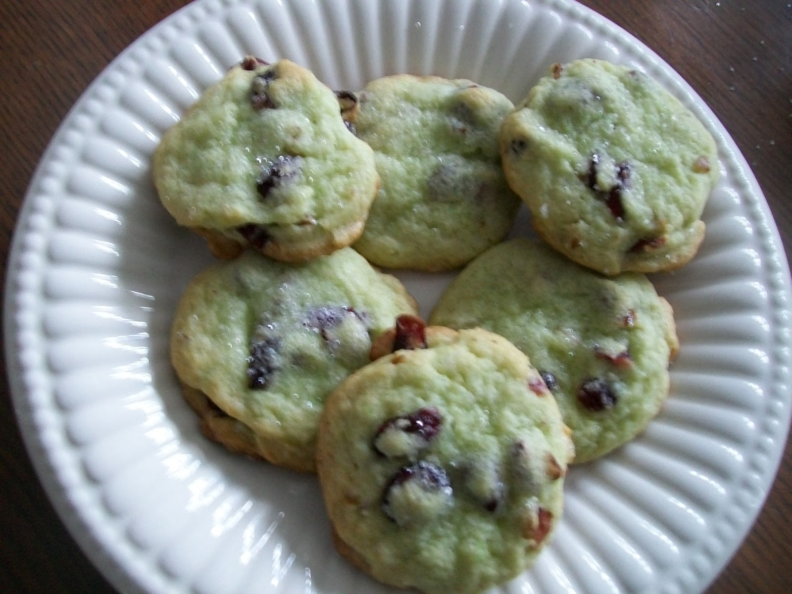Cottage Cook: PISTACHIO PUDDING COOKIES WITH DRIED CRANBERRIES ...