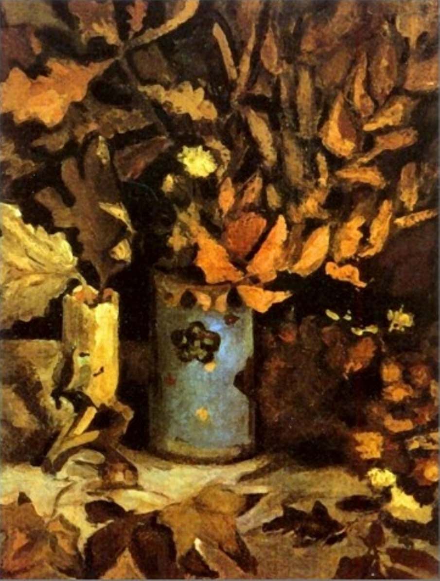 Vase with Dead Leaves (F 200, JH 541) by Vincent van Gogh