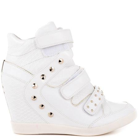 White Wedge Heel Sneakers | TopSneakers