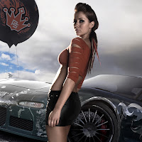 Need For Speed Prostreet Girl iPad2 - iPad Wallpapers 2