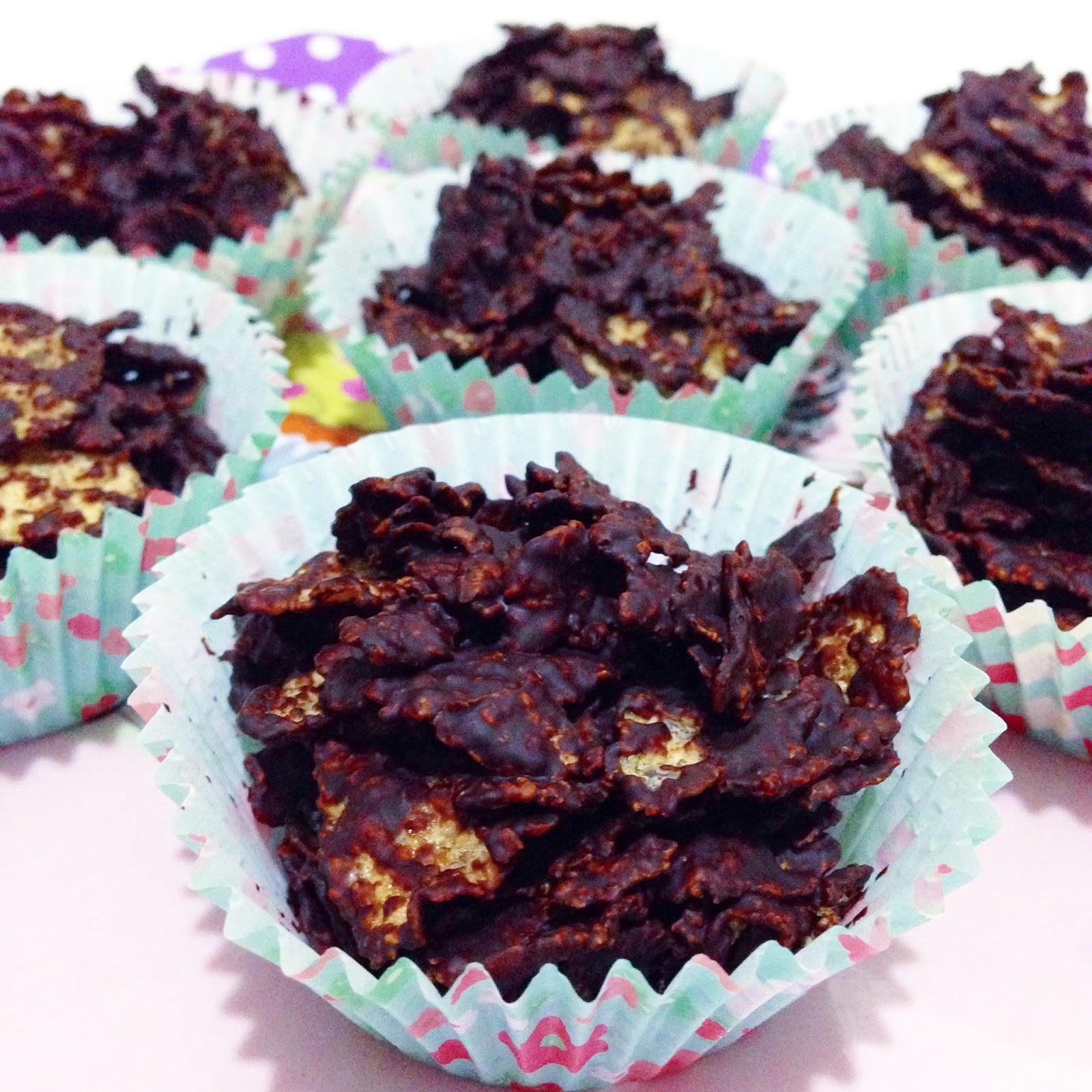 Mısır Gevrekli Çikolatalı Cupcake Tarifi