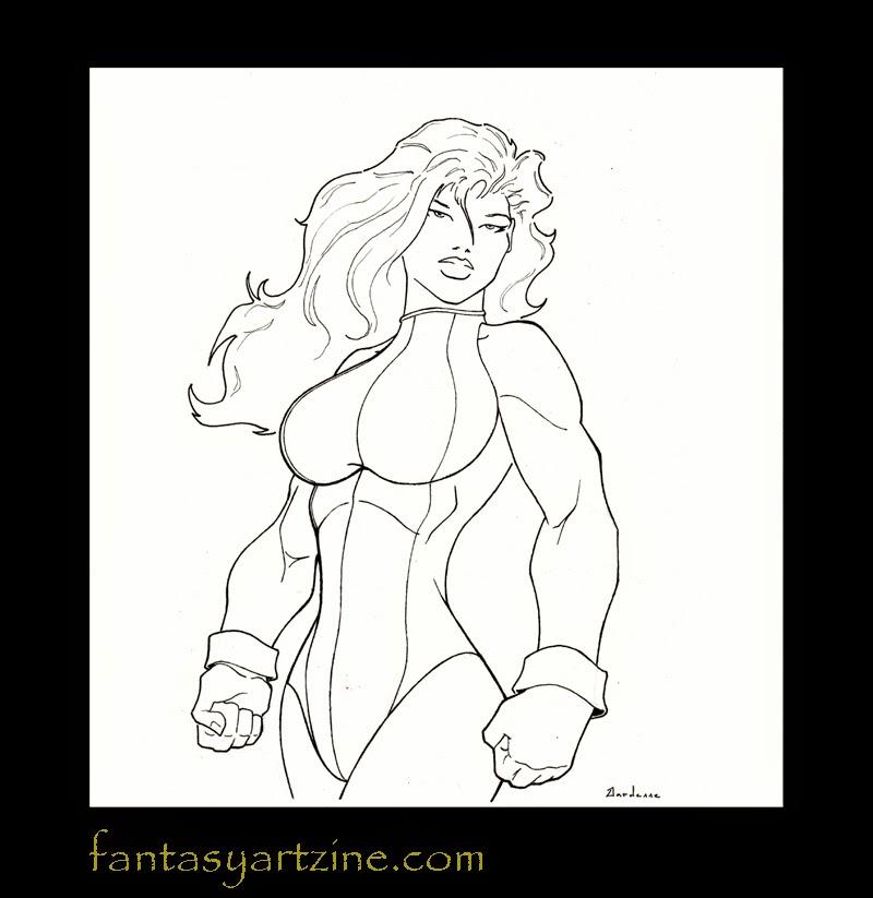 She-Hulk drawing.