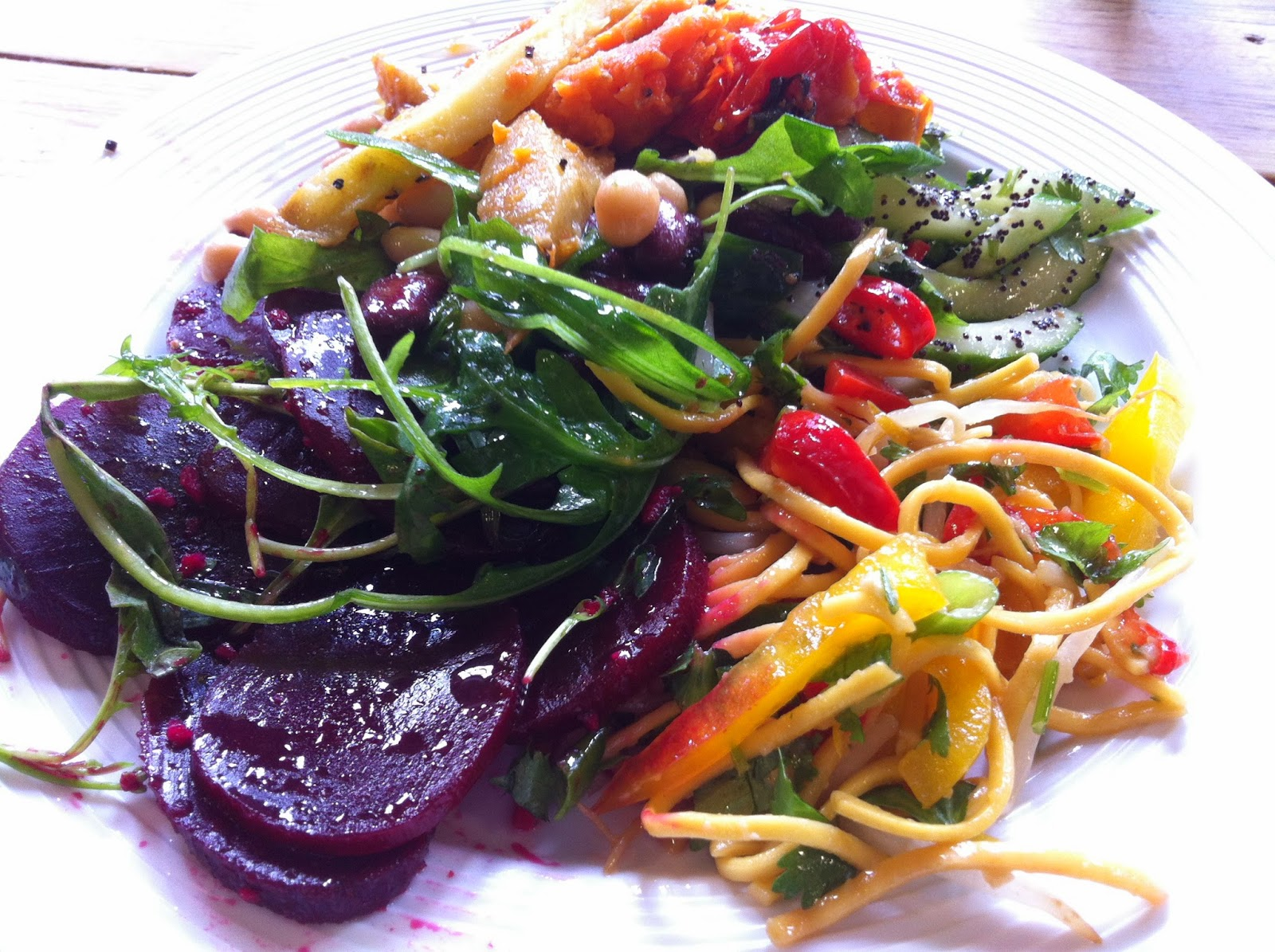 Vegetarian Vegan Salads on the Road in Ireland