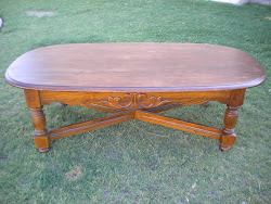 solid oak table...SOLD