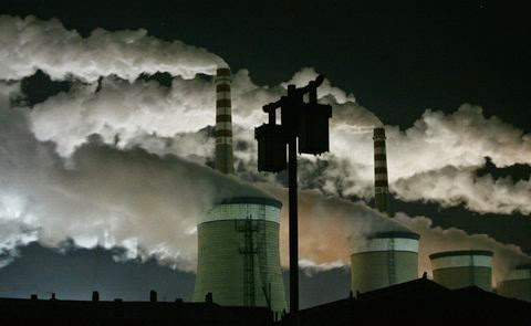 A coal-fired power plant at night on the outskirts of Datong, Shanxi Province. (Credit: Jason Lee/Reuters) Click to enlarge.