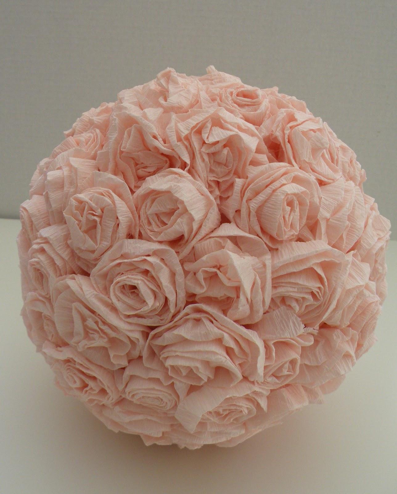 Bala de goma bolas de rosas de papel crepom for Rosas de papel